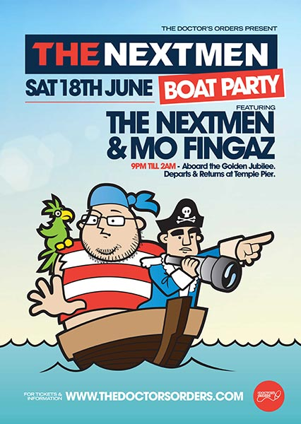 The Nextmen Boat Party at KOKO on Saturday 18th June 2016 Flyer