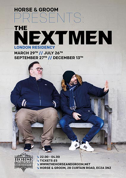 The Nextmen at Horse & Groom on Fri 29th March 2019 Flyer