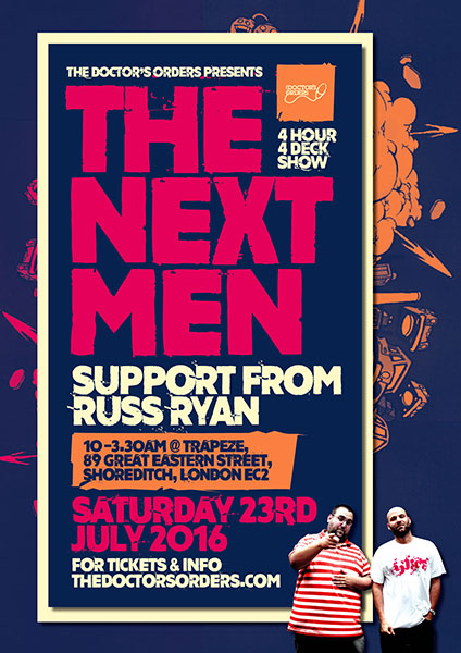 The Nextmen at Trapeze on Saturday 23rd July 2016 Flyer