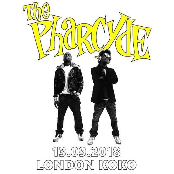 The Pharcyde at KOKO on Thu 13th September 2018 Flyer