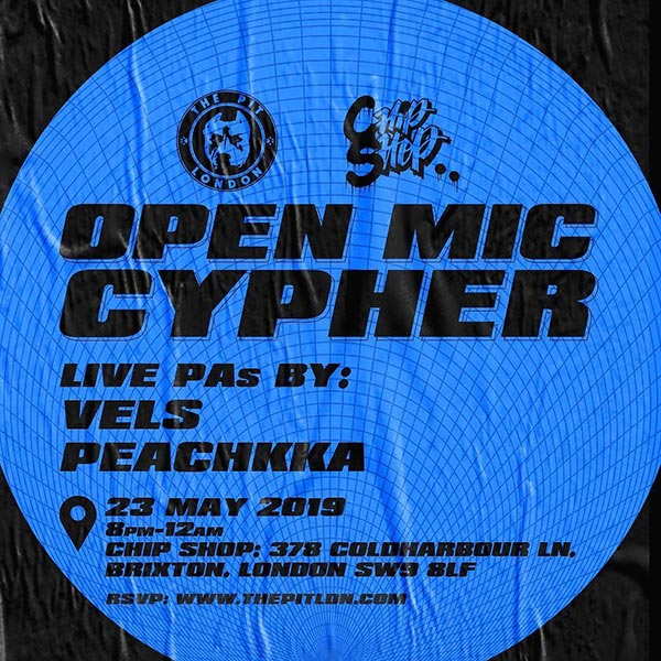 Open Mic Cypher at Chip Shop BXTN on Thu 23rd May 2019 Flyer
