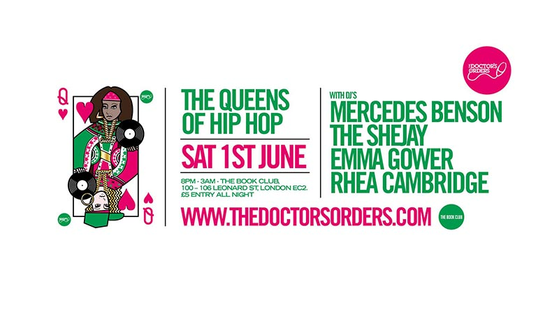 Queens of Hip Hop at Book Club on Sat 1st June 2019 Flyer