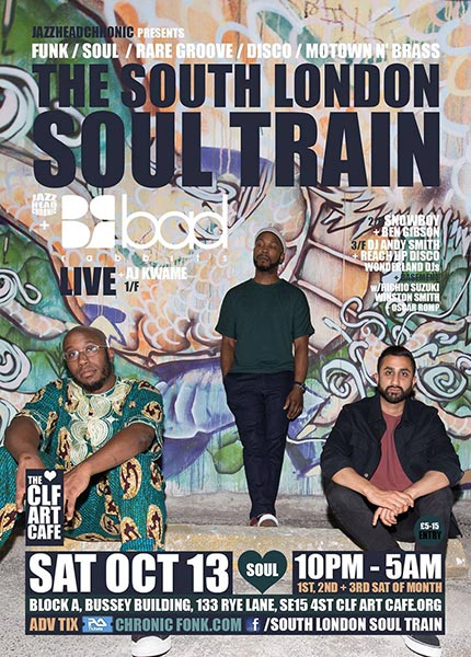 The South London Soul Train at Bussey Building on Sat 13th October 2018 Flyer