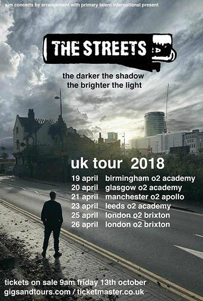 The Streets at Brixton Academy on Thu 26th April 2018 Flyer