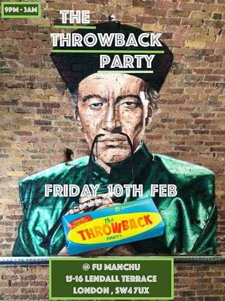 The Throwback Party at Islington Assembly Hall on Friday 10th February 2017 Flyer