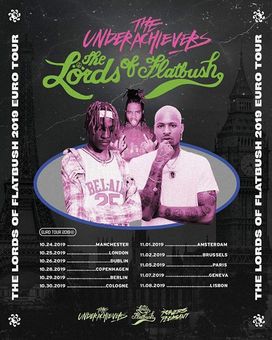 The Underachievers at The Garage on Fri 25th October 2019 Flyer