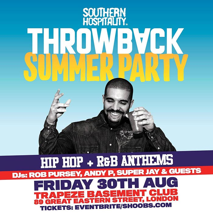 Throwback Classics! at Trapeze on Fri 30th August 2019 Flyer