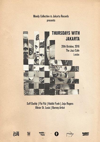 Thursdays with Jakarta at The Forum on Thursday 20th October 2016 Flyer