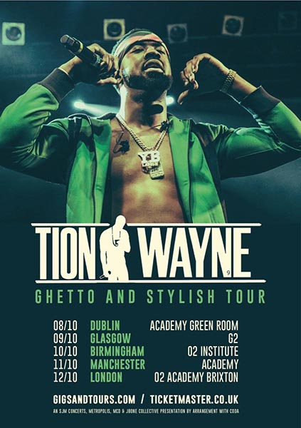Tion Wayne at Brixton Academy on Saturday 12th October 2019 Flyer