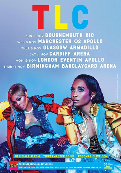 TLC at Finsbury Park on Monday 13th November 2017 Flyer