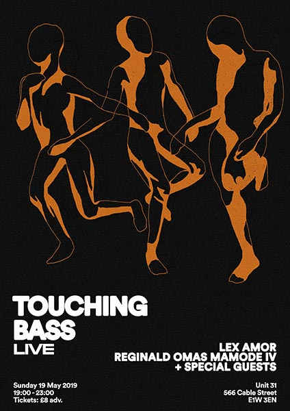 Touching Bass Live at Unit 31 on Sun 19th May 2019 Flyer