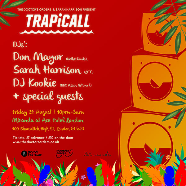 TRAPiCALL at Ace Hotel on Friday 24th August 2018 Flyer