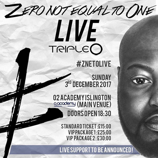 Triple O at Finsbury Park on Sunday 3rd December 2017 Flyer