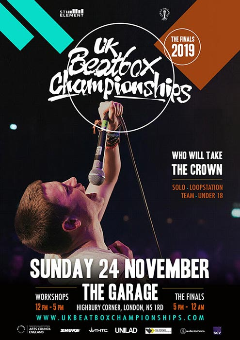 UK Beatbox Championships at The Garage on Sun 24th November 2019 Flyer