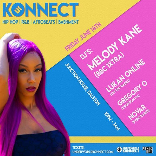 Konnect  at Junction House on Fri 14th June 2019 Flyer