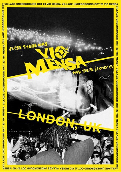 Vic Mensa at Finsbury Park on Monday 23rd October 2017 Flyer