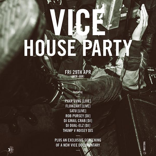 Vice House Party at KOKO on Friday 29th April 2016 Flyer