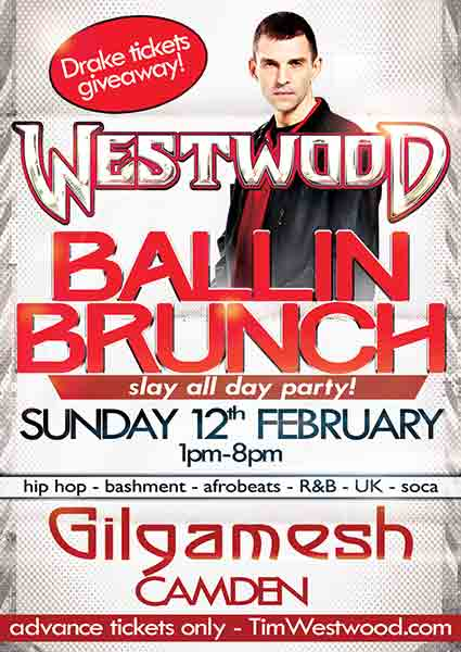 Westwood Ballin Brunch at Islington Assembly Hall on Sunday 12th February 2017 Flyer