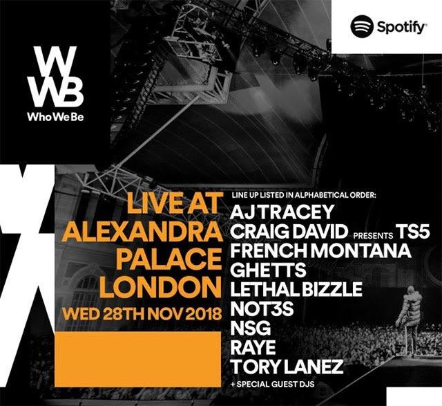 Who We be at Alexandra Palace on Wed 28th November 2018 Flyer