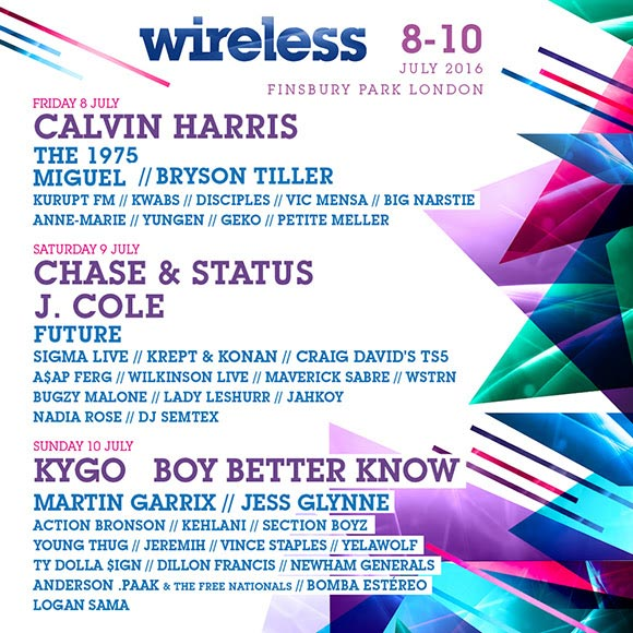 Wireless Festival Sunday at KOKO on Sunday 10th July 2016 Flyer