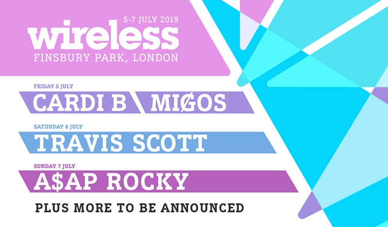 Wireless Festival Friday at Finsbury Park on Fri 5th July 2019 Flyer