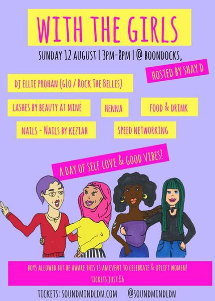 With the Girls at Boondocks on Sun 12th August 2018 Flyer
