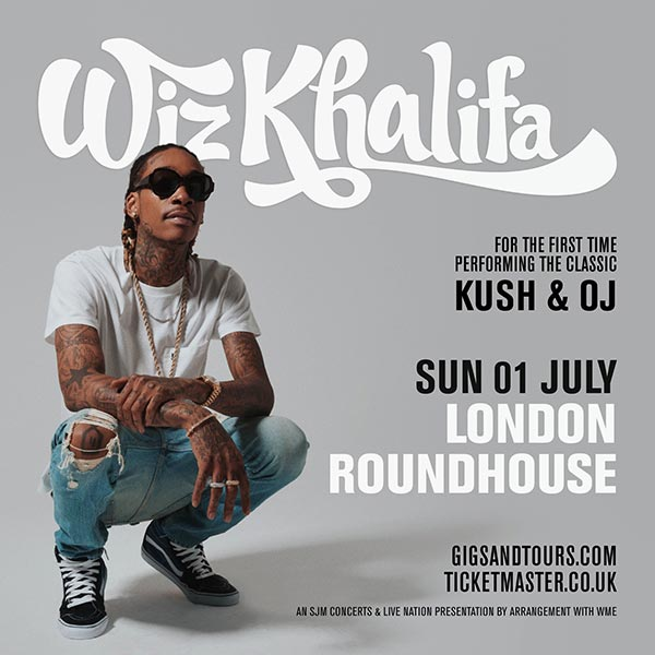Wiz Khalifa at The Roundhouse on Sun 1st July 2018 Flyer