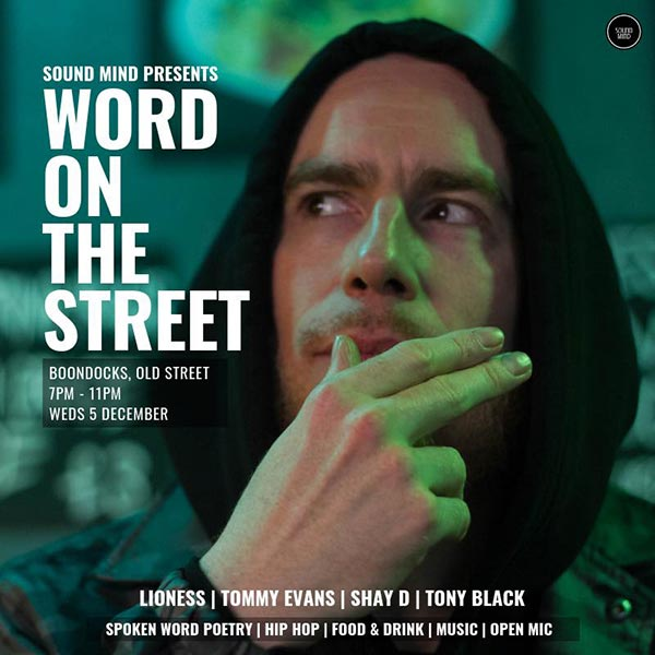 Word on the Street at Boondocks on Wednesday 5th December 2018 Flyer