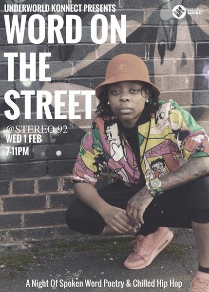 Word on the Street at Islington Assembly Hall on Wednesday 1st February 2017 Flyer