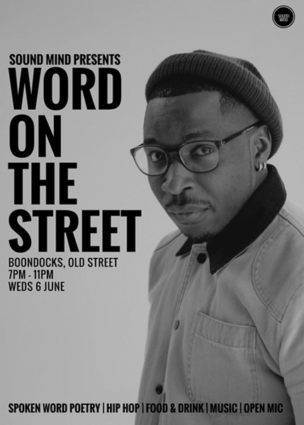 Word On The Street at Boondocks on Wednesday 6th June 2018 Flyer