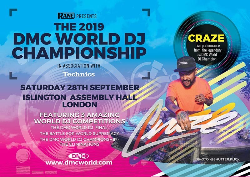 The DMC World DJ Championship 2019 at Islington Assembly Hall on Sat 28th September 2019 Flyer