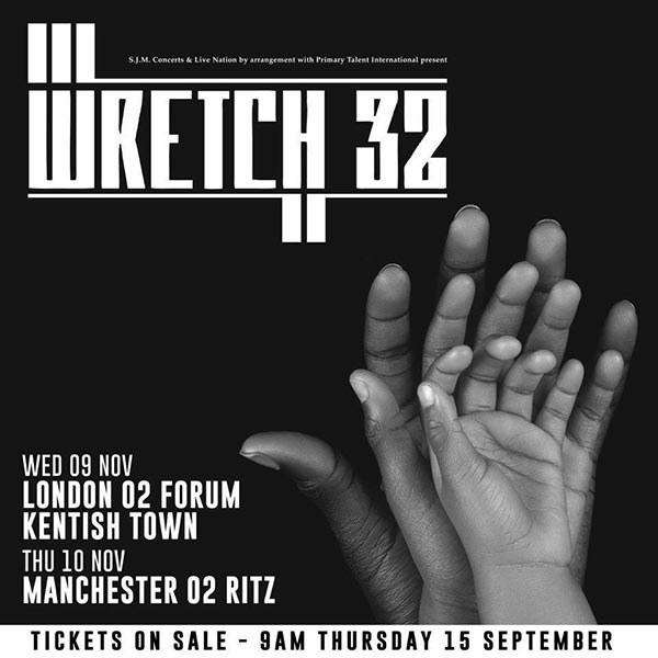 Wretch 32 at Hoxton Bar & Kitchen on Wednesday 9th November 2016 Flyer