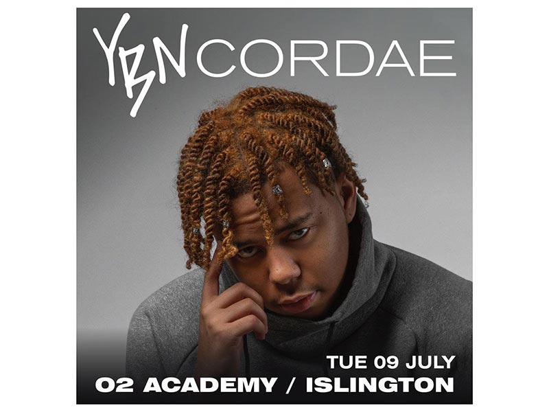 YBN Cordae at Islington Academy on Tue 9th July 2019 Flyer