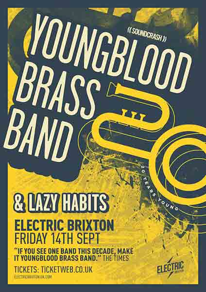 Youngblood Brass Band at Electric Brixton on Fri 14th September 2018 Flyer