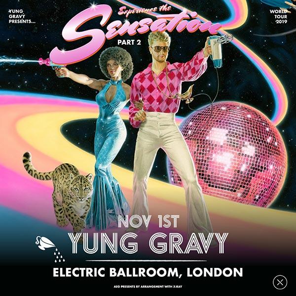Yung Gravy at Electric Ballroom on Fri 1st November 2019 Flyer