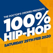 100% Hip-Hop at Book Club on Saturday 29th February 2020