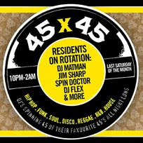 45 x 45s at Old Street Records on Saturday 29th February 2020