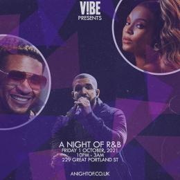 A night of R&B at 229 The Venue on Friday 1st October 2021