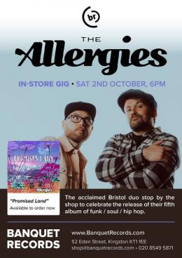 Allergies Instore at Banquet Records on Saturday 2nd October 2021