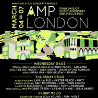 AMP London at Bethnal Green WMC on Wednesday 4th March 2020