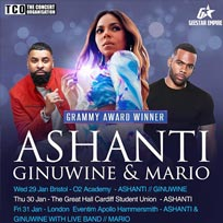 Ashanti + Ginuwine+ Mario at Hammersmith Apollo on Friday 31st January 2020