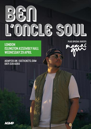 Ben L'Oncle Soul at Islington Assembly Hall on Wednesday 29th April 2020