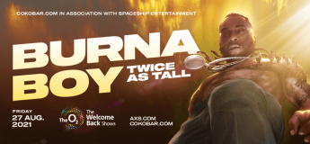 Burna Boy at The o2 on Friday 27th August 2021