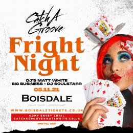 Catch A Groove Fright Night at The Boisdale Club Canary Wharf on Friday 5th November 2021