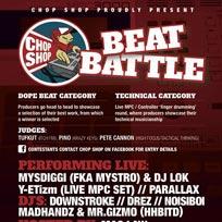 Chop Shop Beat Battle at Underdog Art Gallery on Saturday 10th December 2016