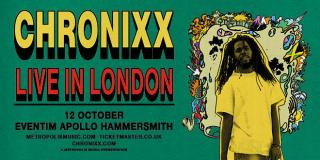 Chronixx at Hammersmith Apollo on Monday 12th October 2020