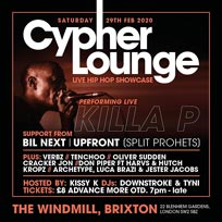 The Cypher Lounge at The Windmill Brixton on Saturday 29th February 2020
