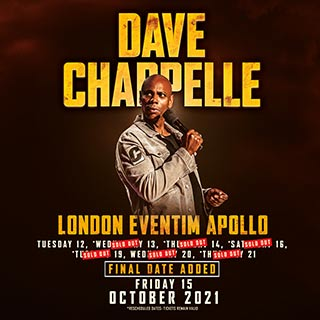 Dave Chappelle at Hammersmith Apollo on Friday 15th October 2021