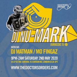 DJ Nu-Mark at The Curtain on Saturday 2nd May 2020
