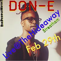 Don-E at Hideaway on Saturday 29th February 2020